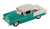 Schuco 452617501 HO 1955 Chevrolet bel Air Green/Cream - Assembled