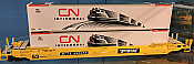 Rapido 402002 HO 53 Ft High-Cube Container - CN Intermodal w/train graphic (CNRU) 230656 (2-pack) In-Stock