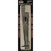 Atlas Model Railroad Code 100 Custom Line Mark IV Turnout - Nickel-Silver #6 Right, Black Ties
