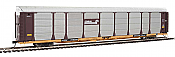 WalthersProto 101333 HO - 89ft Thrall Bi-Level Auto Carrier - Ready To Run - Conrail Rack, TTGX Flatcar #159591