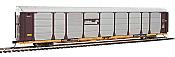 WalthersProto 101333 HO - 89ft Thrall Bi-Level Auto Carrier - Ready To Run - Conrail Rack, TTGX Flatcar #159591