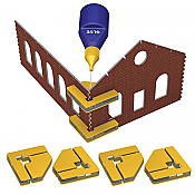 Bachmann 39009 HO - Magnetic Snap Set (Glue Not Included) - 4 Magnetic Clamps w/16 Magnets