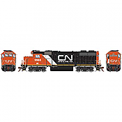 Athearn Genesis G68853 HO Scale - GP38-2 - DCC & Sound - Canadian National/IC w/Web site logo #9563