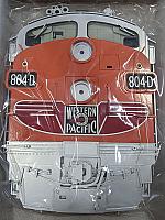 Stoddarts Ltd. 804D - 3D Railroad Wall Artwork - Western Pacific F7 #804D