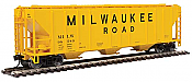 Walthers Mainline 54Ft Ps 4427 CD Covered Hopper Milwaukee Road No.98589