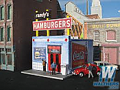 DownTown Deco 1038 HO Randy s Burgers - Kit