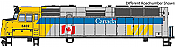 Walthers Mainline 19470 HO Scale - EMD F40PH, ESU Sound and DCC - VIA Rail Canada Scheme #6427