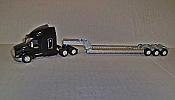 Trucks n Stuff TNS085 HO Peterbilt 579 Sleeper-Cab Tractor w/ 3-Axle Lowboy Trailer - TMC
