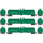 Athearn 28257 HO 30K Gallon Ethanol Tank Car Trinity Industries Leasing #261244, #261252, #261267