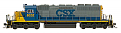 InterMountain 49366S-01 HO Diesel EMD SD40-2 ESU LokSound DCC - CSX #8806