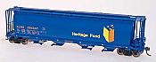 Intermountain Railway 59' 4-Bay Cylindrical Covered Hopper  -Trough Hatch Version- Alberta Heritage Fund- ALNX #396044