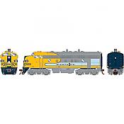 Athearn Genesis G19546 HO Scale - F7A EMD F-Unit Diesel - DCC & Sound - Santa Fe/ Dual Service #326L