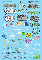 Microscale 871536 HO Scale- Graffiti Decal Set - Irish and Scottish Graffiti