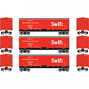 Athearn Roundhouse HO 2270 40ft Steel Reefer Swift 3 Pack