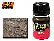 AK Interactive 78 - Damp Earth Satin Wash Enamel Paint - 35ml Bottle