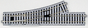 "Kato Unitrack 2-840 HO Scale Manual Turnout #4 Left Hand 9-3/4"" 246mm Long; 19-1/4"" 490mm Radius P490L"
