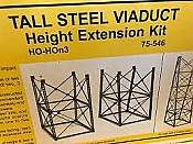 Micro Engineering 75546 HO - Tall Steel Viaduct - Height Extension (1 or 2 stories for 2 towers)