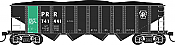 Bowser 42025 HO - H21a 4 Bay Hopper - PC PRR Ore Service #746500