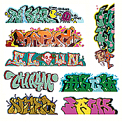 Blair Line 2248 HO Lasercut Graffiti Decals Set 5