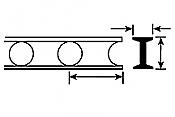 Plastruct 90934 - HO 13/32 inch Open Web Truss - Cellform Style (2pcs)