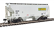 Walthers 7526 HO Scale - 39Ft Trinity 3281 2-Bay Covered Hopper - Blue Circle Cement BCAX #223