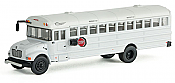 Walthers 11702 HO SceneMaster International - MOW Crew Bus - Assembled - White