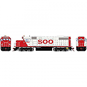 Athearn Genesis G68858 HO Scale - GP38-2 - DCC & Sound - SOO/White w/red letters #4407