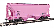 Walthers 7539 HO Scale - 39Ft Trinity 3281 2-Bay Covered Hopper - Halliburton HWCX #7999