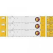 Athearn 26671 HO - RTR 53Ft Jindo Container, ESTU (3pkg)