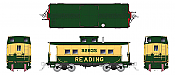 Rapido 144019 - HO Northeastern-style Steel Caboose: Reading - Yellow and Green #92835