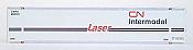 Intermountain 30408-03 HO 48' Smooth Side Container - CN Laser Intermodal 280184, 280196