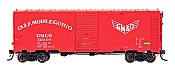 Intermountain 45828-12 HO Scale - 10Ft 6In Modified 1937 AAR Boxcar - Gulf, Mobile & Ohio #53069
