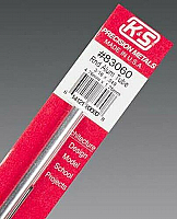 K&S Engineering 83060 All Scale - 3/16 inch OD Round Aluminum Tube - 0.049inch Thick x 12inch Long