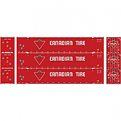 Athearn 17921 HO RTR 53ft Jindo Container Canadian Tire 3pk