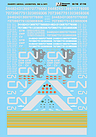 Microscale Railroad Decal Set Canadian National - CN Diesels 1992-1995