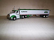 Trucks n Stuff TNS078 HO Kenworth T680 Day-Cab Tractor w/Grain Trailer - Cargill-Country Feeds