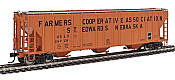 Walthers Proto 106161 - HO 55Ft Evans 4780 Covered Hopper - Farmers Cooperative Association (USLX) #26728