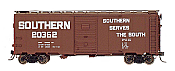 Intermountain 45814-21 HO Scale - 10Ft 6In Modified 1937 AAR Boxcar - Southern Billboard #20275