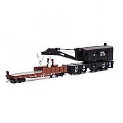 Athearn RTR 75415 - HO 200-Ton Crane w/Tender - Conrail/Small Logo #45218