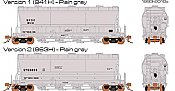 Rapido 133012-3 - HO ACF PD3500 Flexi Flo Hopper - United States Systems, Inc. SYSX Version 1(941H), Version 2(9693H) -Plain gray-inservice 2000 No.807