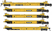 WalthersMainline 55624 HO - Thrall 5-Unit Rebuilt 40 Ft Well Car - Ready to Run - TTX - DDTX #740565 A-E