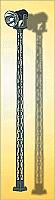 Miniatronics Corp 7211801 HO - Single Railyard Spotlight - 5-1/2inch 13.7cm Tall
