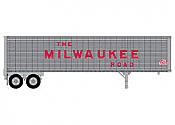 Trainworx 8023403 HO Scale 40 Ft Corrugated Trailer Van Milwaukee Road #705268