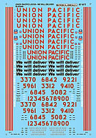 Microscale 87-977 HO Scale - Union Pacific Diesels with -We Will Deliver- Slogan Scheme (1996-2001) - Waterslide Decal