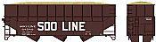 Bowser HO 60219 70 Ton Offset Wood Chip Kit Soo Line #68535