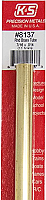 K&S Engineering 8137 All Scale - 7/16 inch OD Round Brass Tube 0.014inch Thick x 12inch Long