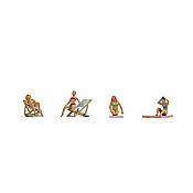 Noch 15851 - HO Female Sunbathers (4) w/ Chairs & Mats