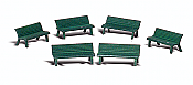Woodland Scenics 2181 - N Scenic Accents Details - Park Benches (6/pkg)
