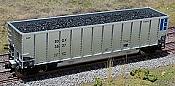 CM 3128 Coal Load for Walthers Bethgon Coalporter 2 pcs
