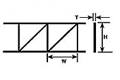Plastruct 90927 - 1-5/8 inch Open Web Truss - Pratt Style (2pcs)